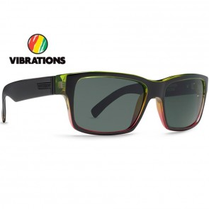 Von Zipper Fulton Vibrations Sunglasses - Black Gloss Rasta Fade/Grey