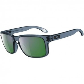 Oakley Holbrook Sunglasses - Crystal Black/Emerald Iridium