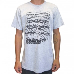 Cleanline Wave Logo T-Shirt - Grey