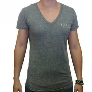 Cleanline Mural V-Neck Top - Heather Grey