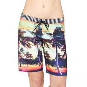 Roxy Women's Sunset Stripe Boardshorts - Black/Sunset