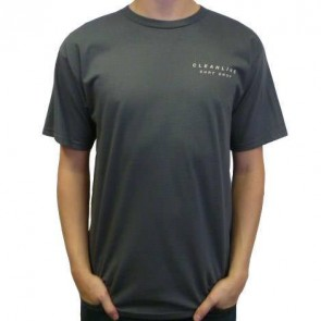 Cleanline Mural  T-Shirt - Charcoal