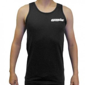 Cleanline Corp Logo/Big Rock Tank - Black/White