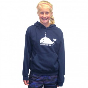 Cleanline Youth Whale Tail Hoodie - Navy