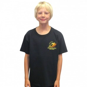 Cleanline Youth Graphite Sunset T-Shirt - Black