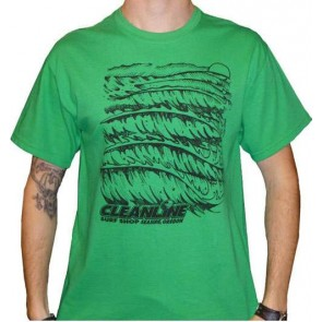 Cleanline Wave Logo T-Shirt - Green