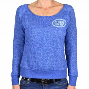 Cleanline Women's Anchor Scoop Pullover Sweatshirt - Azul