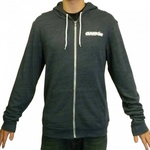 Cleanline Corp Logo/Big Rock Zip Hoodie - Navy/White