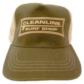 Cleanline Longboard Mesh Hat - Olive/Khaki