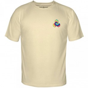 Channel Islands Tie Dye Hex T-Shirt - Cream