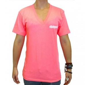 Cleanline Women's Corp Logo/Big Rock Top - Neon Pink