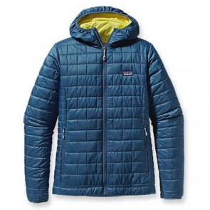 Patagonia Women's Nano Puff Hoodie Jacket - Glass Blue