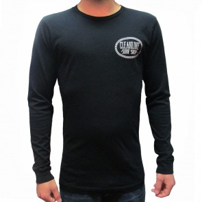 Cleanline Anchor Longsleeve T-Shirt - Black
