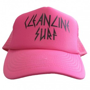 Cleanline Rock Star Trucker Hat - Neon Pink/Black