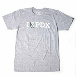 Casual Industrees I Drink PDX T Shirt - Grey
