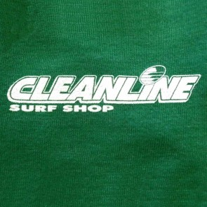 Cleanline Corp Logo/Big Rock Zip Hoodie - Green/White