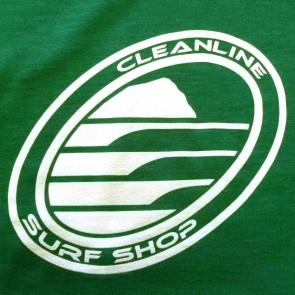 Cleanline Corp Logo/Big Rock Zip Hoodie - Green/White