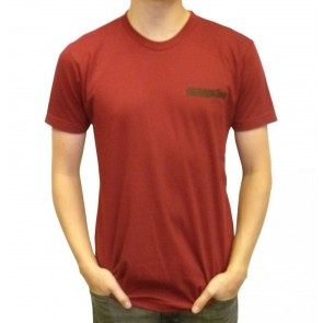 Cleanline Corp Logo/Big Rock T-Shirt - Cranberry/Black