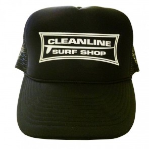 Cleanline Longboard Mesh Hat - Black/White