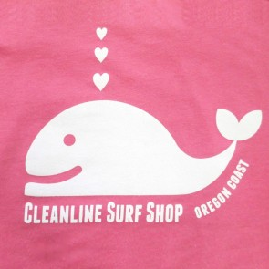 Cleanline Youth Whale Tail Top - Hot Pink