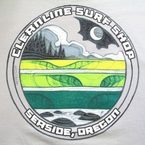 Cleanline Moon Lines Seaside T-Shirt - Silver
