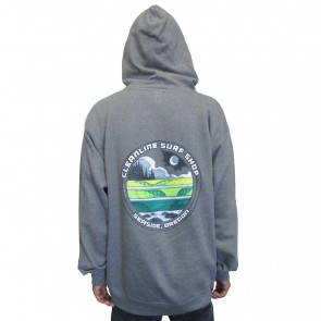 Cleanline Moon Lines Seaside Hoodie - Gunmetal