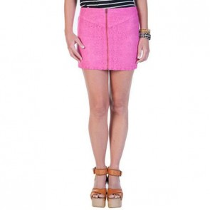 Volcom Women's Stone Roses Skirt - Electric Pink