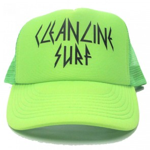 Cleanline Rock Star Trucker Hat - Neon Green/Black