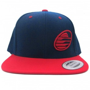 Cleanline Embroidered Rock Flat-Bill Snap Hat - Navy/Red