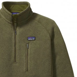 Patagonia Better Sweater 1/4 Zip Jacket - Willow Herb Green