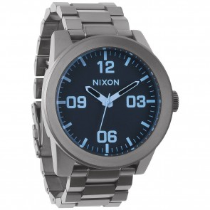 Nixon Watches - The Corporal SS - Gunmetal/Crystal Blue