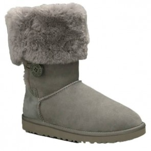 UGG Australia Bailey Button Triplet Boots - Grey