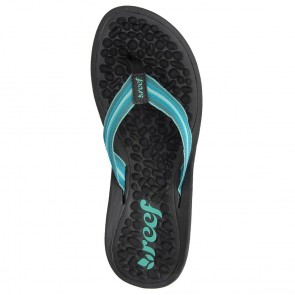 Reef Women's Play Negra Sandals - Black/Turquoise