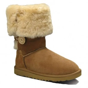 UGG Australia Bailey Button Triplet Boots - Chestnut