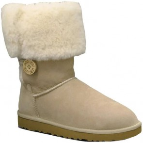 UGG Australia Bailey Button Triplet Boots - Sand
