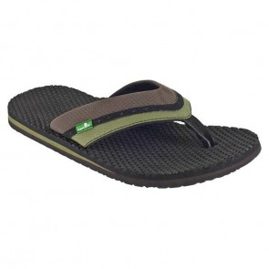 Sanuk Bubbler Sandals - Brown/Olive Fatigue