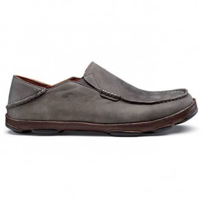Olukai Moloa Shoes - Storm Grey/Dark Wood