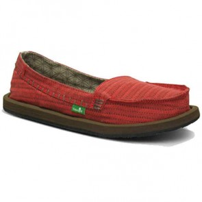 Sanuk Women's Rasta Brisbane Sidewalk Surfers - Red