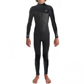 Billabong Youth Foil 5/4 Back Zip Wetsuit - Black