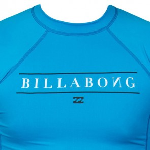 Billabong Wetsuits Youth All Day Short Sleeve Rash Guard - New Blue