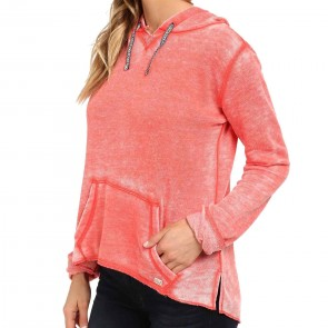 Billabong Women's Stop and Stare Hoodie - Hot Coral