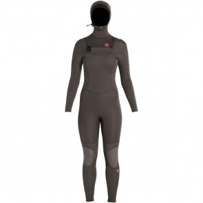 Billabong Women's Synergy 5/4 Hooded Wetsuit - Off Black