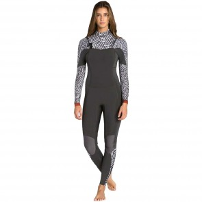 Billabong Women's Salty Dayz 4/3 Chest Zip Wetsuit - Geo Diamond