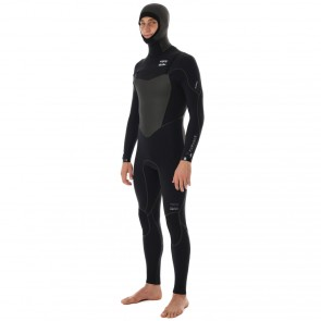 Billabong Xero Furnace 5/4 Hooded Chest Zip Wetsuit - Black