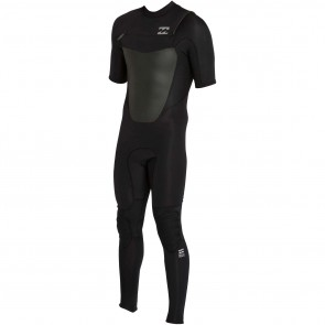 Billabong Foil 2mm Short Sleeve Chest Zip Wetsuit - Black