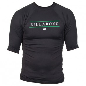 Billabong Wetsuits All Day Short Sleeve Rash Guard - Black