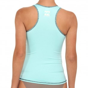 Billabong Wetsuits Women's Shaka For Days Tank Rash Guard - Mo Mint