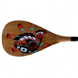 Boardworks - Raven Carbon 2pc SUP Paddle - Wood Veneer