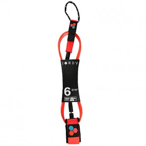 Channel Islands - Jordy Smith Comp Hex Cord Leash - 6'0 - Flo Red