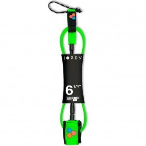 Channel Islands Jordy Smith Standard Hex Cord Leash - Flo Green